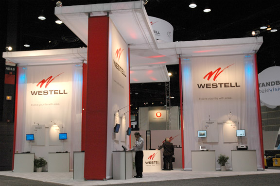 Westell custom modular trade show booth
