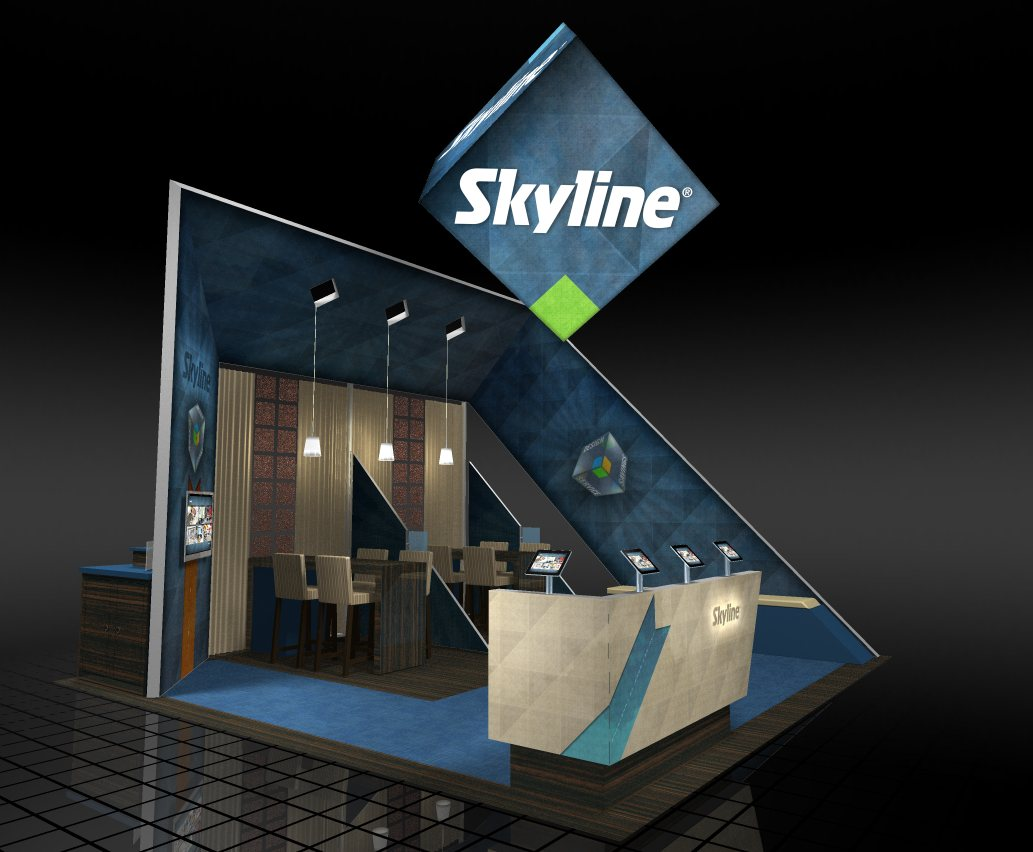 Skyline Exhibits booth 1323 at EXHIBITOR2011