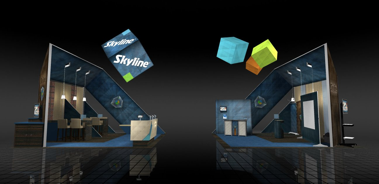 Skyline at EXHIBITOR2011