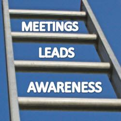 Awareness, Leads & Meetings: Climbing The Ladder Of Trade Show Objectives