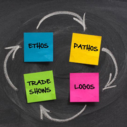 The Art of Trade Show Persuasion: Ethos, Pathos, Logos